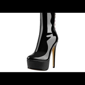 01784 Women's Stiletto Platform Classic boot
